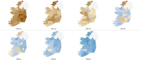 Heat-map of Ireland's property prices
